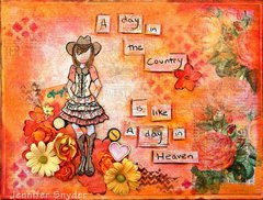 Cowgirl Doll Stamp - Prima Marketing DT