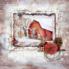 Winter Barn - FabScraps
