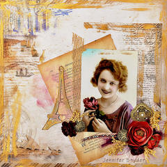 Parisian Rose - FabScraps