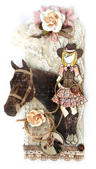 Cowgirl Tag - Flying Unicorn and FabScraps