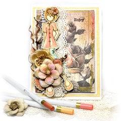 Watercolor Card - Prima