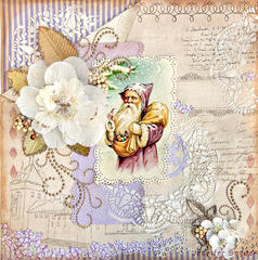 Vintage Santa in Purple - ZVA Creative