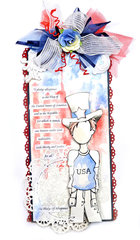Patriotic Tag - Prima, Julie Nutting