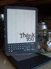 Thank You - Kindle style!