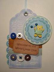 Nathan - Welcome to the Word Little One! - Gift Tag