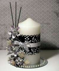 TLC Candle Centerpiece by Melinda Spinks