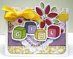 Little Cutie Girl Card by Keely Yowler