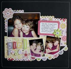Little Cutie Girl Pose Layout by Robyn Schaub