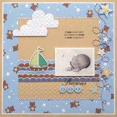 Little Cutie Precious Layout by Melinda Spinks