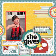 She Gives by Megan Aaron