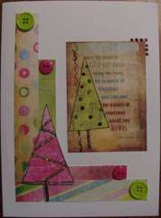 Christmas tree card 7