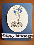 biking birthday card