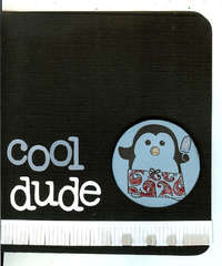 cool dude *penguin* card