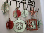 Brand New Rusty Pickle White Christmas Ornaments