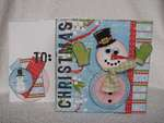 Christmas Snowman ~ **RUSTY PICKLE**
