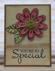 Special Flower card