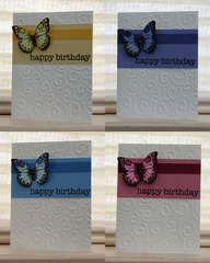 Birthday Butterflies card set