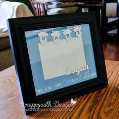 Baby Announcement Altered Frame