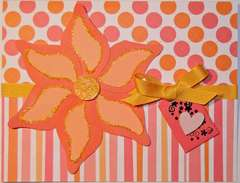 Orange Flower ~ All Occasion Card