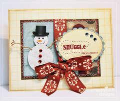 Hybrid Valentine Snuggle Snowman Card