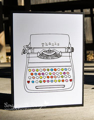 Sketch Typewriter Card White
