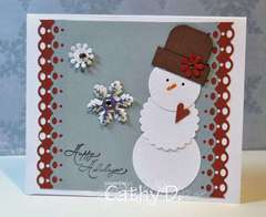 Spellbinder snowman