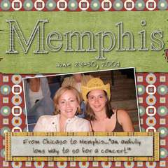 Memphis Trip Cover Page