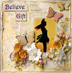 Believe Every Moment Holds a Gift (for Abby) **SEM March challenge/ScrapThat DT CHallenge**