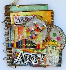Art cardboard book