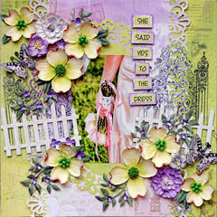She Said Yes To The Dress*** Scraps Of Elegance April Guest Designer***