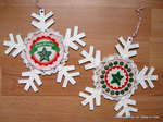 Snowflake ornaments  *Tidbitz In Time*