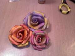 Grunge paper roses