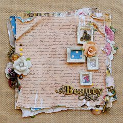 Beauty.... Burlap Canvas