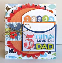 5 Things I love About Dad card