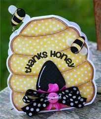 Thanks Honey - shaped card