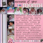 Memories of your 1st month