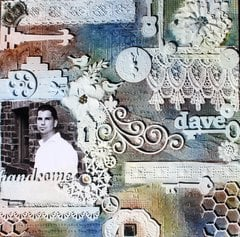 Dave-Mixed Media with Bo Bunny