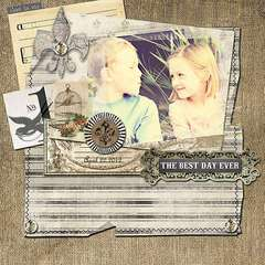 The Best Day Ever by Karianne Phelps featuring French Kiss from Glitz Design