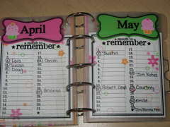 April/May Birthday/Anniversary reminder *