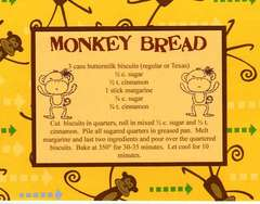 Monkey Bread Recipe Card