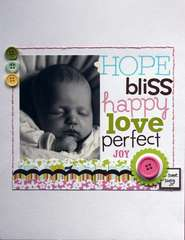 Hope, bliss, happy. . .