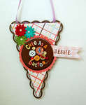 Cute As A Button Pennant  ***TADA CREATIVE STUDIOS***
