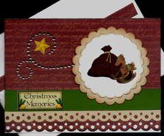 Bag And Rocking Horse Xmas Card