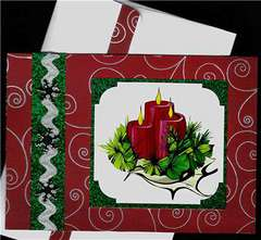Candles Christmas card