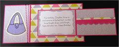 Cup Cakes Joy Fold Birthday Card Inside