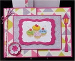 Cup Cakes Joy Fold Birthday Card
