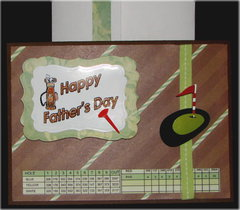 Happy Fathers Day Brown Card