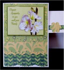 Lillies Green Sympathy Card