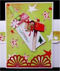Mailbox Tag Christmas Card