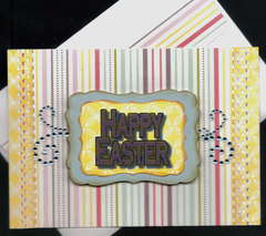 Purple Happy Easter Card